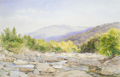 Hill John William Landscape View On Catskill Creek