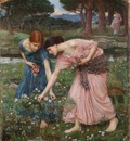 JohnWaterhouse GatherYeRosebudsWhileYeMay 1909Small