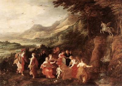 MOMPER Joos de Helicon Or Minervas Visit To The Muses