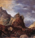 MOMPER Joos de Mountain Scene With Bridges
