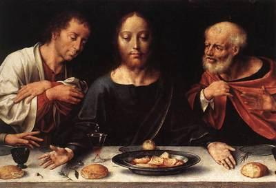 cleve joos van altarpiece of the lamentation detail