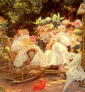 Cordero Jose Villegas Y Ladies In A Garden