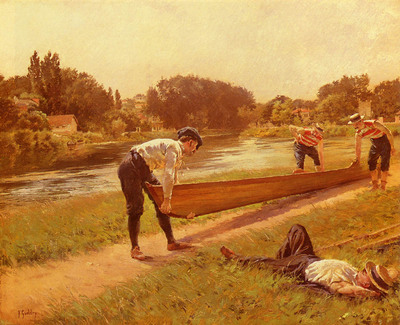 Gueldry Joseph Ferdinand Le Repos Des Canotiers