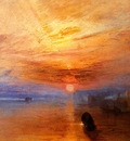 Turner Joseph Mallord William The fighting Temeraire tugged to her last Berth to be broken up detail1