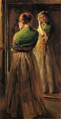 DeCamp Joseph Girl with a Green Shawl