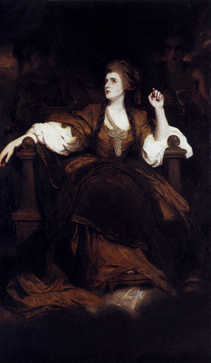 Reynolds Joshua Portrait Of Mrs Siddons As The tragic Muse