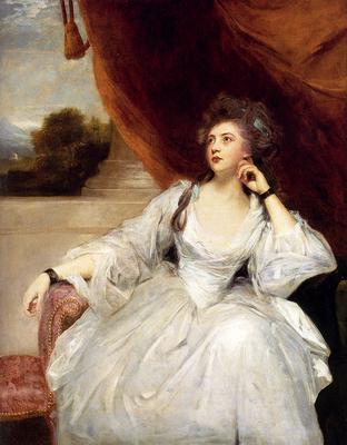Reynolds Joshua Portrait Of Mrs Stanhope
