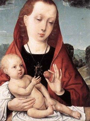 JUAN DE FLANDES Virgin And Cild Before A Landscape