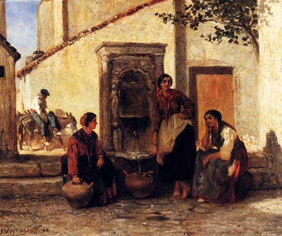 Veyrassat Jules Jacques At The Fountain
