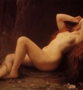 Lefebvre Jules Mary Magdalene In The Cave