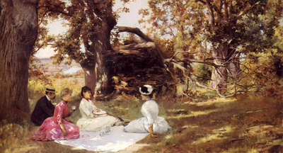 Stewart Julius LeBlanc Picnic Under The Trees
