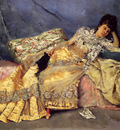 Stewart Julius LeBlanc Lady On A Pink Divan