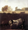 Italian Landscape with Herdsman and a Piebald Horse WGA