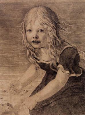 SCHINKEL Karl Friedrich Portrait Of The Artists Daughter Marie