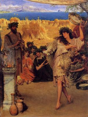 Alma Tadema A Harvest Festival A Dancing Bacchante at Harvest Time