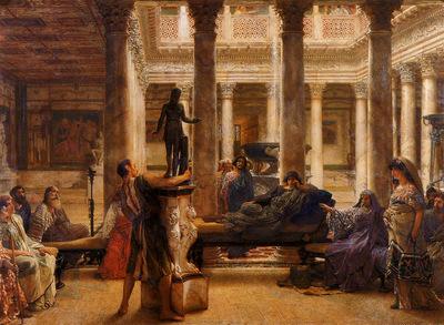 Alma Tadema A Roman Art Lover