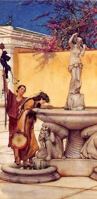 Alma Tadema Between Venus and Bacchus