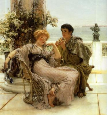 Alma Tadema Courtship the Proposal