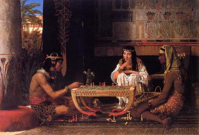 Alma Tadema Egyptian Chess Players