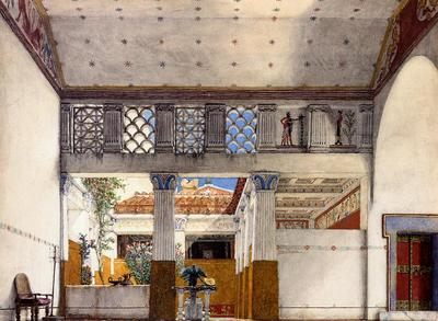 Alma Tadema Interior of Caius Martius s House