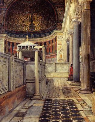 Alma Tadema Interior of the Church of San Clemente Rome