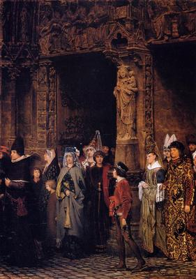 Alma Tadema Leaving Church in the Fifteenth Century