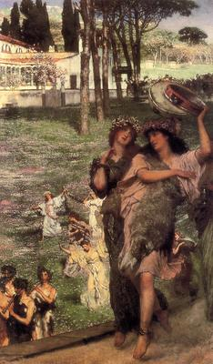 Alma Tadema On the Road to the Temple of Ceres