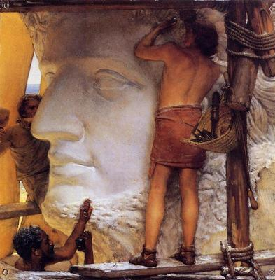 Alma Tadema Sculptors in Ancient Rome