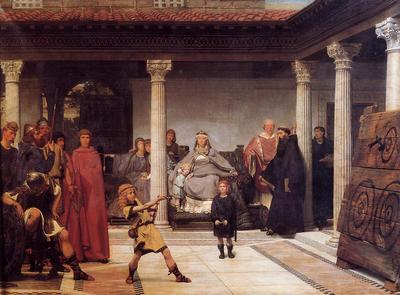 Alma Tadema The Education of the Children of Clovis