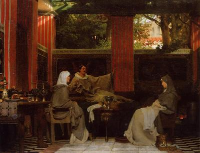 Alma Tadema Venantius Fortunatus Reading His Poems to Radegonda VI