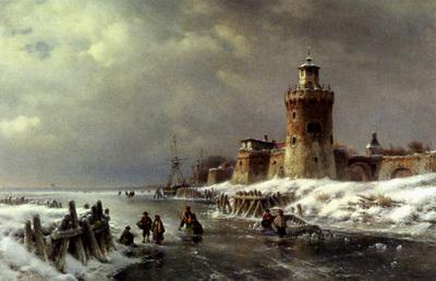 Kleijn Lodewijk Johannes A Frozen River Landscape