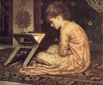 Leighton Study At a Reading Desk