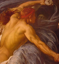 Leighton Lord Frederick Hercules Wrestling Death for the Body of Alcestis detail5
