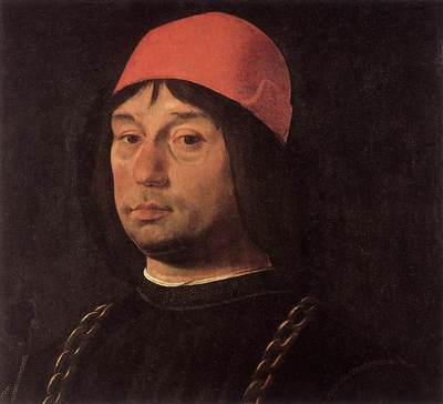 COSTA Lorenzo Portrait Of Giovanni Bentivoglio