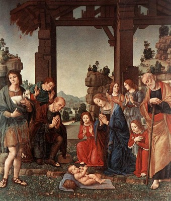 LORENZO DI CREDI Adoration Of The Shepherds