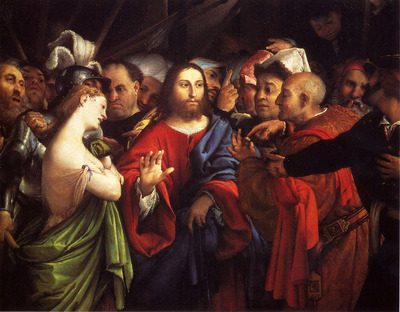 Lotto Lorenzo Christ And The Adulteress
