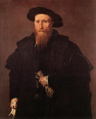 Lotto Lorenzo Gentleman with Gloves c1543
