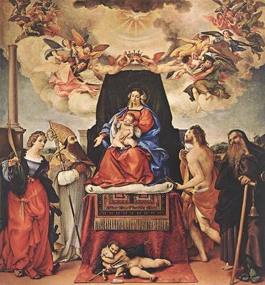 Lotto Lorenzo Madonna and Child with Saints 1521 II