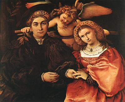 lotto lorenzo messer marsilio and his wife