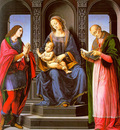 Lorenzo di Credi The Virgin and Child with St Julian and St Nicholas of Myra