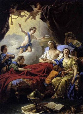 LAGRENEE Louis Allegory On The Death Of The Dauphin