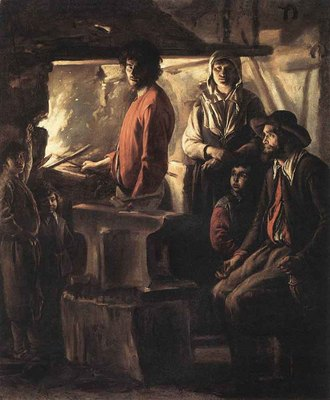 Le Nain Louis Blacksmith At His Forge