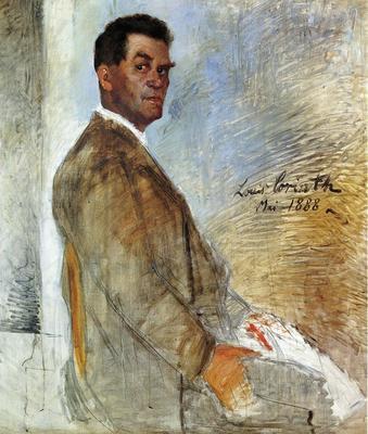 Corinth Lovis Portrait of Franz Heinrich Corinth unfinished