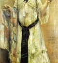 Cointh Lovis Portrait of Charlotte Berend in a White Dress