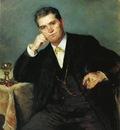 Corinth Lovis Portrait of Franz Heinrich Corinth with a Glass of Wine