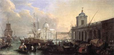 CARLEVARIS Luca The Sea Custom House With San Giorgio Maggiore