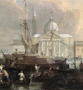 CARLEVARIS Luca The Sea Custom House With San Giorgio Maggiore detail