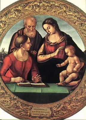 SIGNORELLI Luca Madonna And Child With St Joseph And Another Saint