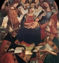 SIGNORELLI Luca The Trinity The Virgin And Two saints