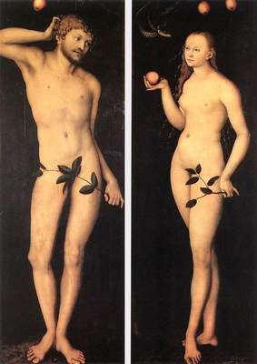 cranach lucas the elder adam and eve